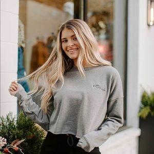 Kittenish heather grey sweatshirt